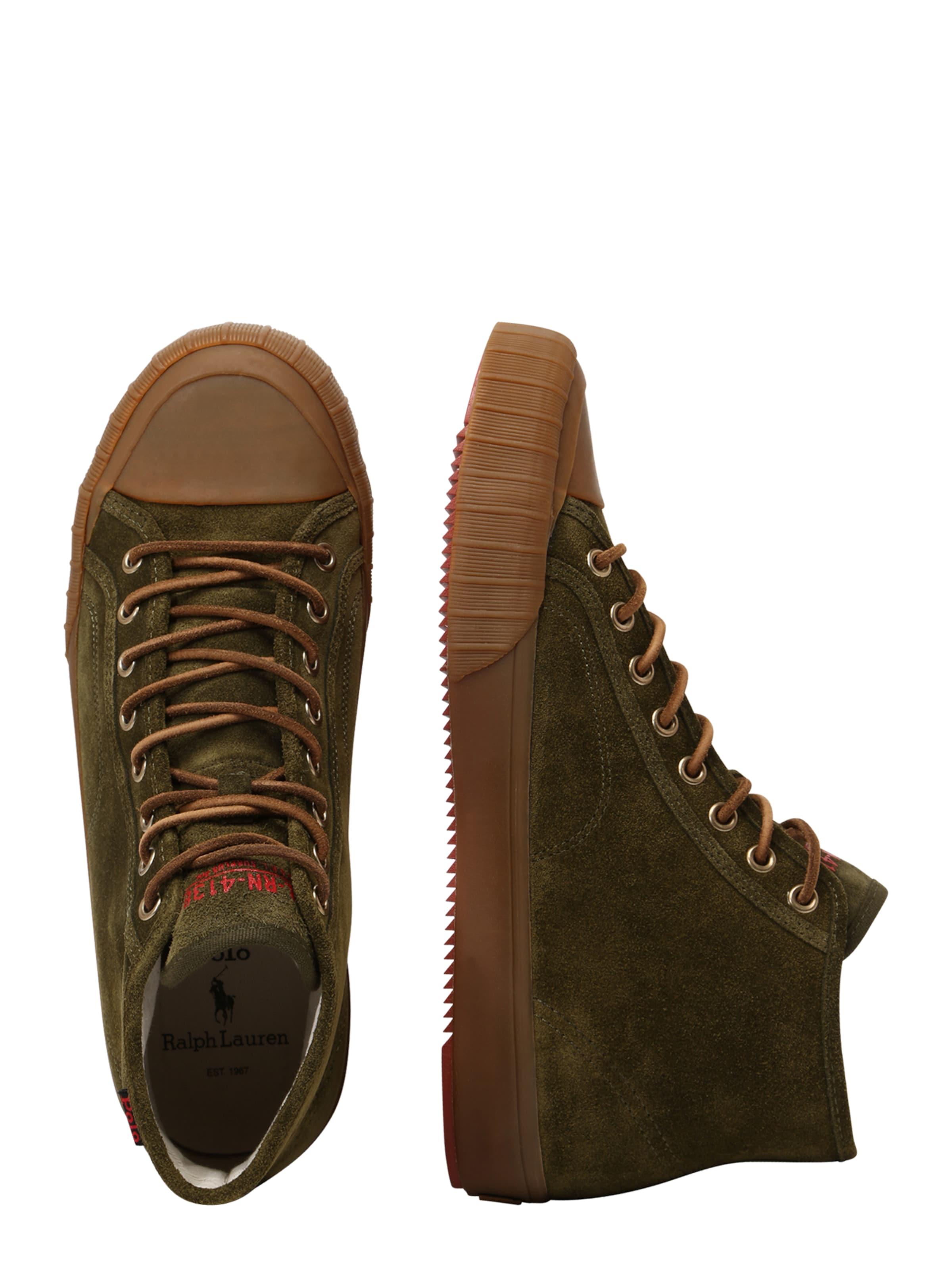 Mid' Polo In Ralph Sneaker Khaki Lauren 'xander TJc3lF1K