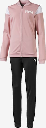 PUMA Trainingsanzug 'Poly' in rosa / schwarz / weiß, Produktansicht