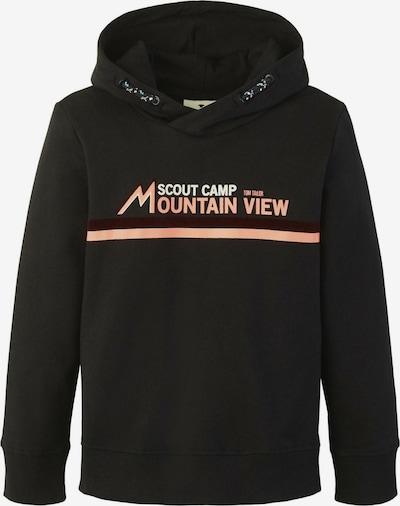 TOM TAILOR Strick & Sweatshirts Hoodie mit Print in schwarz, Produktansicht