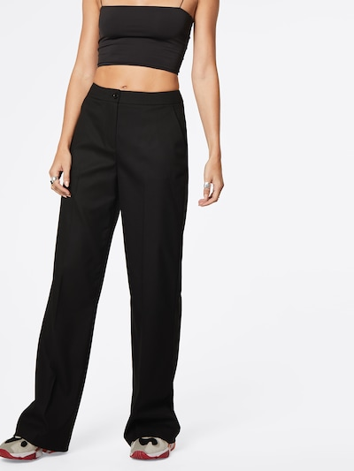 LeGer by Lena Gercke Trousers with creases 'Freya' in black, View model