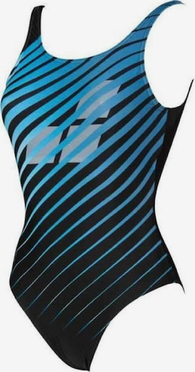 ARENA Badeanzug 'Flicker U Back' in himmelblau / schwarz: Frontalansicht