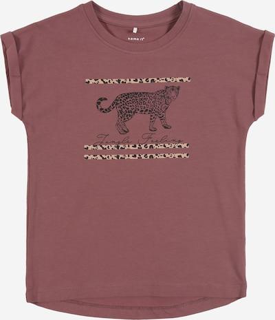 NAME IT Koszulka w kolorze ciemnoszary / różowy pudrowym, Podgląd produktu