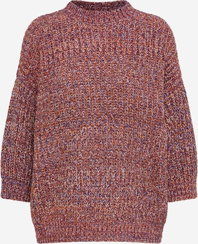 Y.A.S Strickpullover in orange / pink, Produktansicht