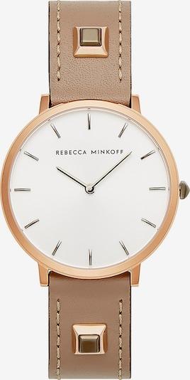 Rebecca Minkoff Uhr 'Major' in dunkelbeige / weiß, Produktansicht