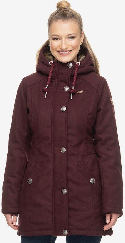 Ragwear Winterjacke ' JEMMA ' in dunkelrot, Modelansicht