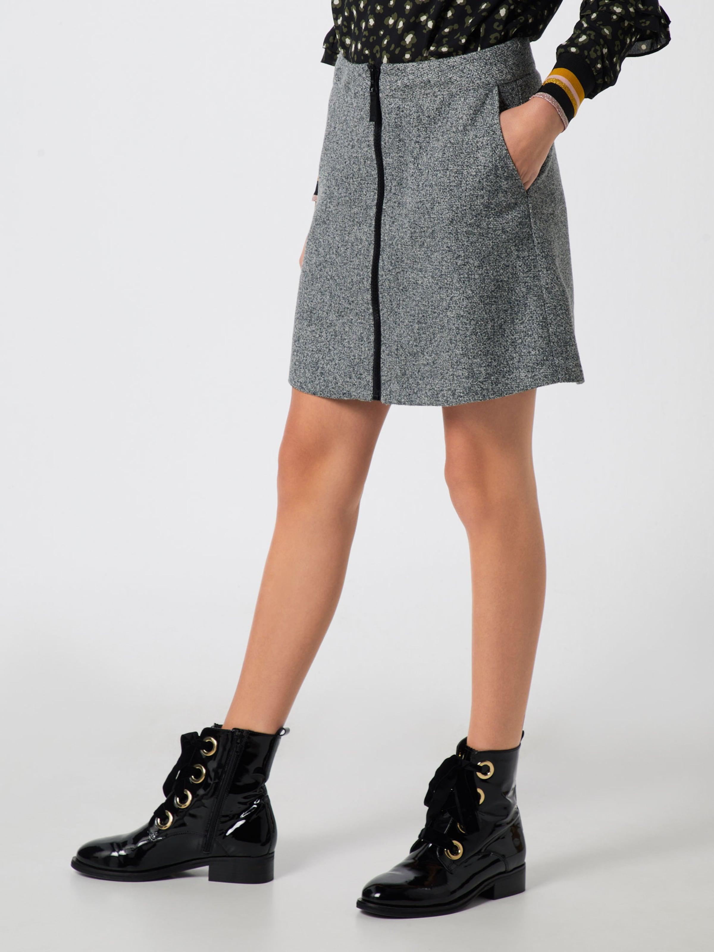 Re Skirt' Graumeliert draft 'zip Rock In ARL3qcj54