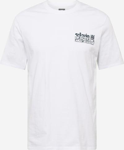 EDWIN Shirt 'Hokusai Noh Masks' in de kleur Navy / Wit, Productweergave