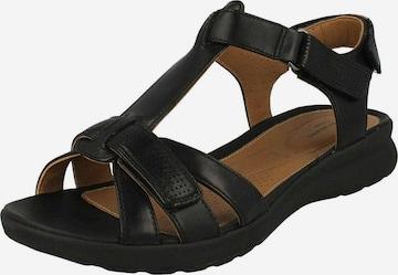 CLARKS Sandale 'Un Adorn Vibe' in Schwarz