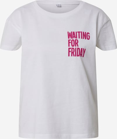 Merchcode Shirt 'Waiting For Friday' in de kleur Pink / Wit, Productweergave