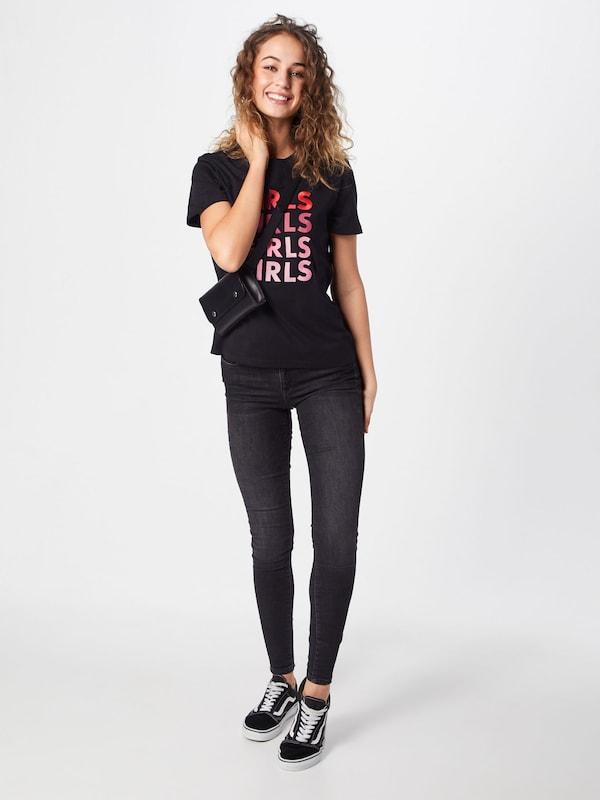 'pcbess' En shirt Pieces T Noir UpSGMqzV