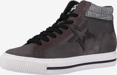Paul Green Sneakers hoog in de kleur Grijs / Aardetinten: Vooraanzicht