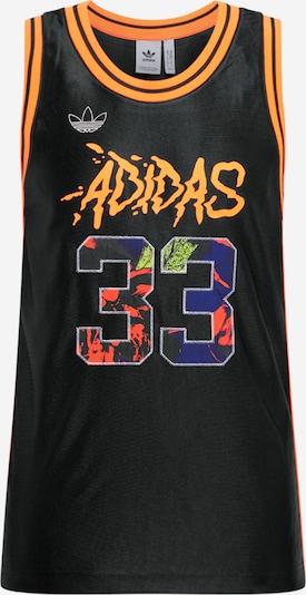 ADIDAS ORIGINALS T-Shirt 'Festiv' en orange fluo / rouge / noir: Vue de face