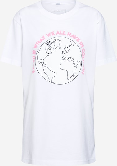 Merchcode Shirt 'Planet Earth' in de kleur Lichtroze / Zwart / Wit, Productweergave