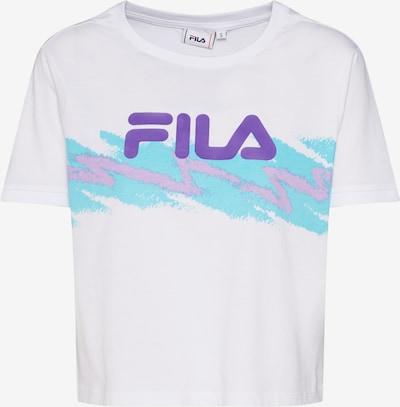 FILA Shirt 'GAURI Cropped' in türkis / weiß, Produktansicht