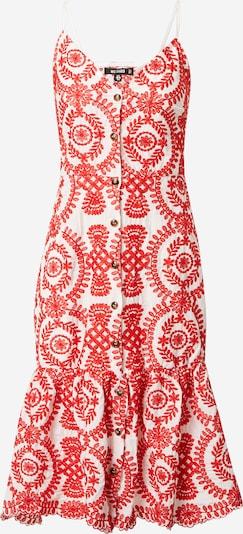 Missguided Robe en rouge clair / blanc, Vue avec produit