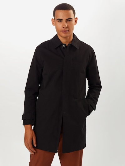 fekete BURTON MENSWEAR LONDON Átmeneti kabátok 'BLACK CORE MAC INET', Modell nézet