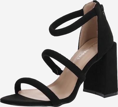 Sandale cu baretă GLAMOROUS pe negru, Vizualizare produs