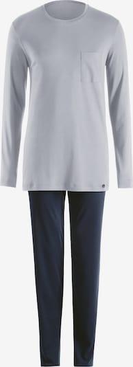 Hanro Pyjama Langarm 'Day & Night' in dunkelblau / graumeliert, Produktansicht