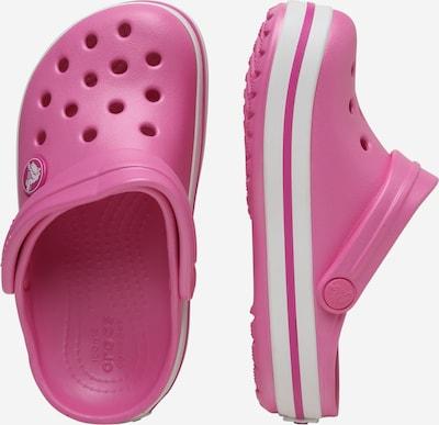 Crocs Clogs 'Crocband' in pink / weiß: Seitenansicht