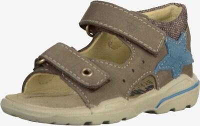 Pepino Sandalen in dunkelbeige / rauchblau, Produktansicht