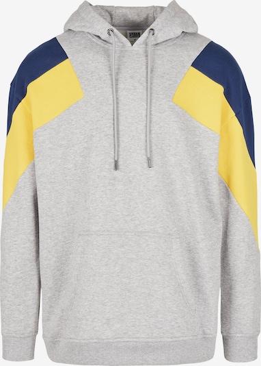 Urban Classics Sweatshirt in de kleur Nachtblauw / Geel / Grijs, Productweergave