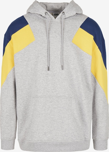 Urban Classics Sweatshirt in nachtblau / gelb / grau, Produktansicht