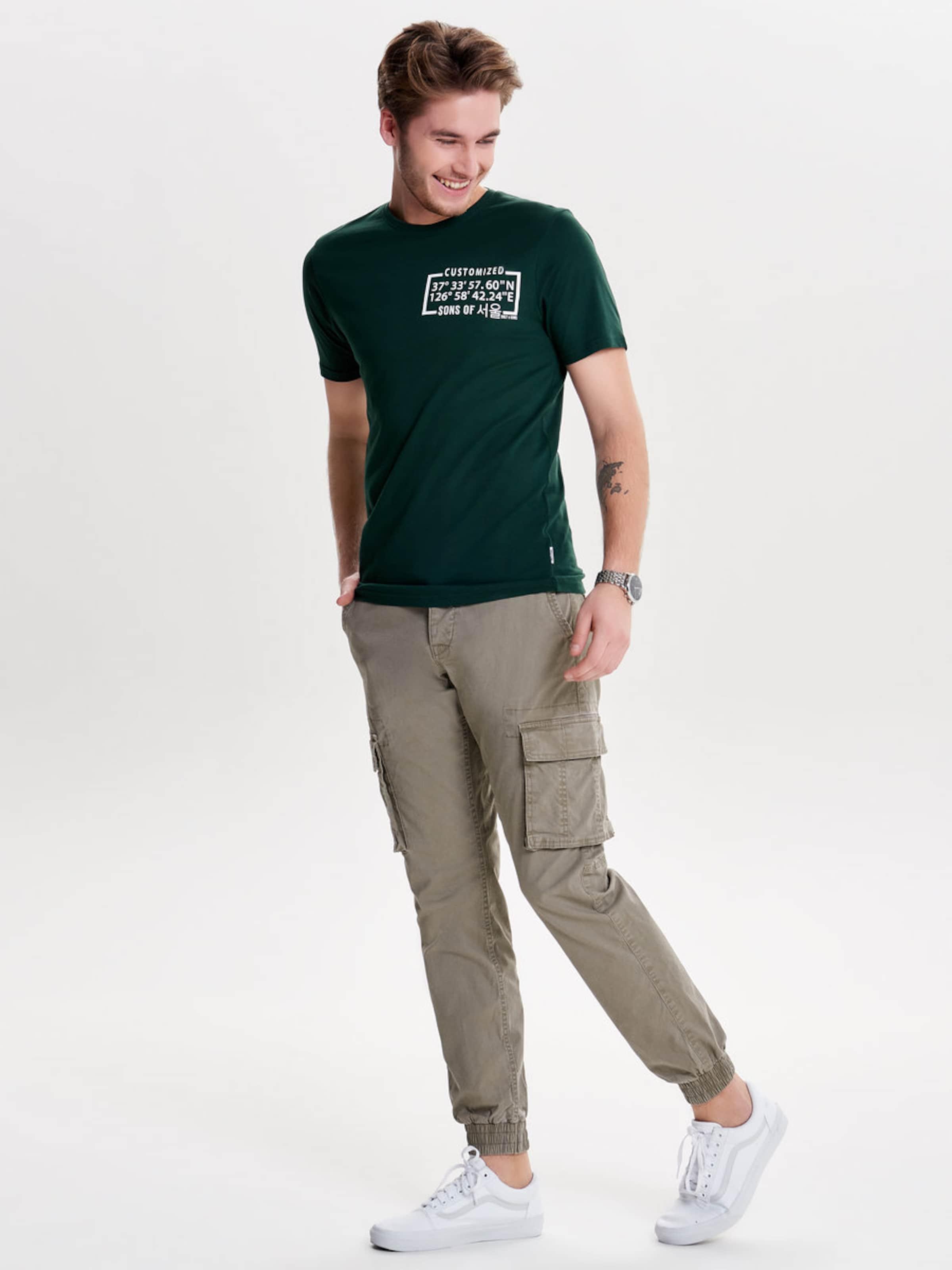 Only & Sons Print T-Shirt Online-Shopping Online-Verkauf Rabatte Billige Finish Billig Verkauf Wahl 43K2q7C1