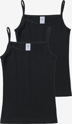 SANETTA Unterhemd in Schwarz