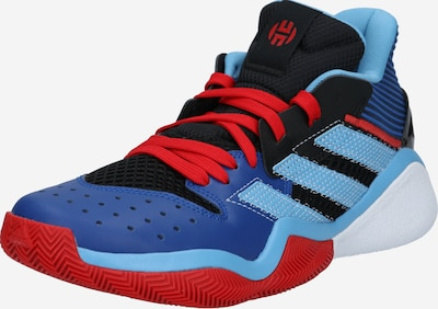 ADIDAS PERFORMANCE Sportschoen 'Harden Stepback' in de kleur Blauw / Lichtblauw / Rood / Zwart, Productweergave
