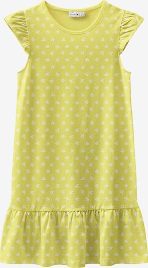 NAME IT Kleid 'Vida' in gelb / weiß, Produktansicht