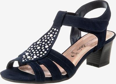 JANE KLAIN T-Steg-Sandaletten in blau / silber, Produktansicht