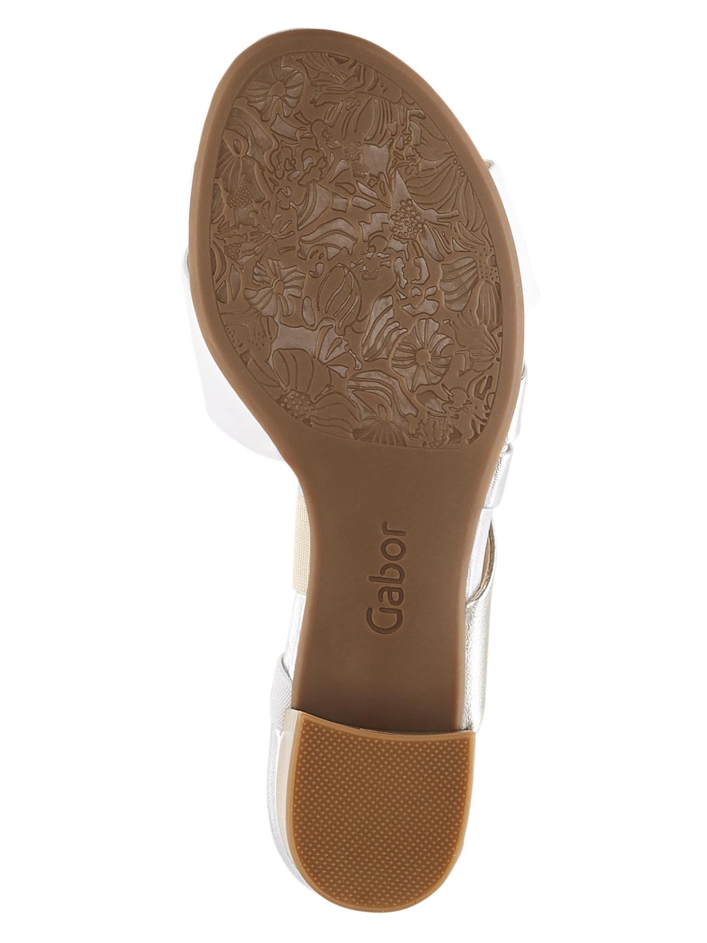 Weiß GoldSilber Gabor Gabor Sandalette In trCshQdx