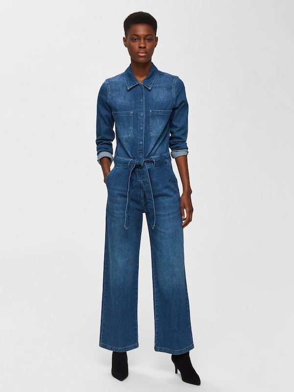 SELECTED FEMME Jumpsuit in blue denim, Modelansicht