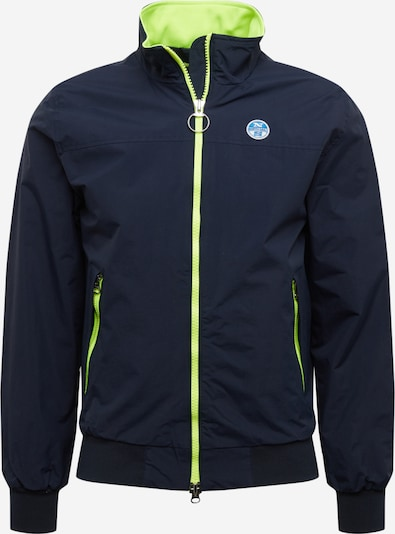 North Sails Jacke 'SAILOR HERITAGE' in navy / limette, Produktansicht