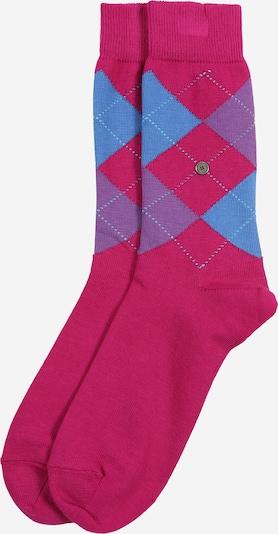 BURLINGTON Socke 'Queen Sock' in blau / dunkelpink, Produktansicht
