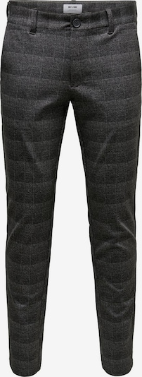 Only & Sons Pantalon 'Mark' en gris / gris foncé: Vue de face