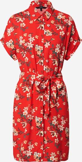 VERO MODA Kleid 'Simply Easy' in beige / gelb / grün / oliv / hellrot, Produktansicht