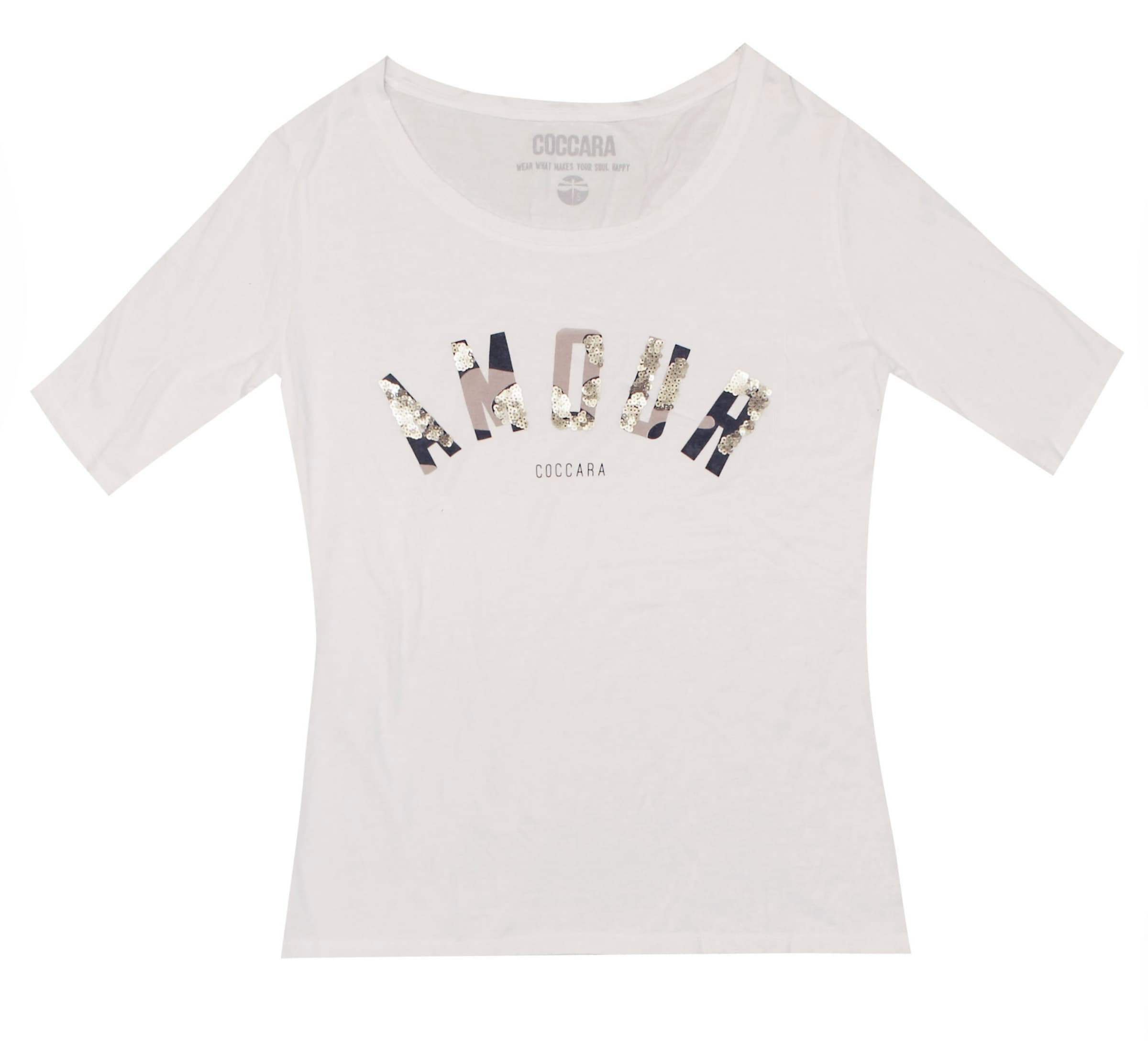 T shirt 'madison' Weiß In Coccara TaupeSchwarz uT1cFKJl3