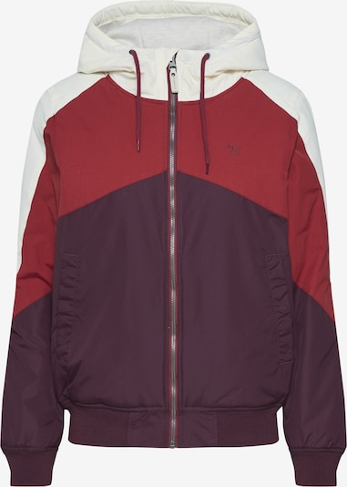 Iriedaily Jacke 'Tri Colore Jacket' in rot / bordeaux, Produktansicht