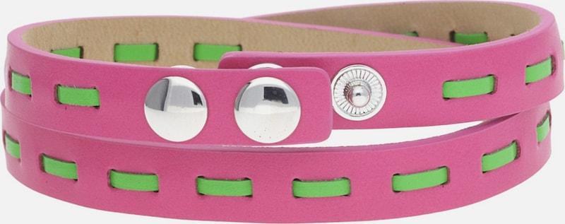 GUESS Wickelarmband Pink/Grün UBB21305