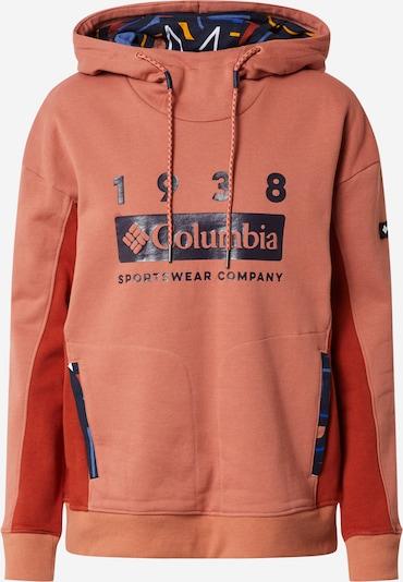 COLUMBIA Sweat de sport en bleu foncé / rouge, Vue avec produit