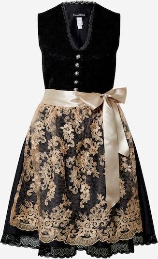 MONDKINI Kleid 'Weser' in hellbeige / schwarz, Produktansicht