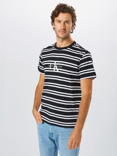 Calvin Klein Jeans Shirt in de kleur Zwart / Wit: Vooraanzicht