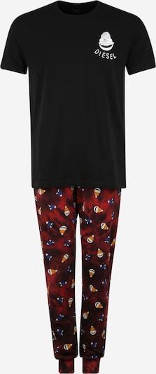 DIESEL Pyjama 'JAKE-JULIO' in rot / schwarz / weiß, Produktansicht