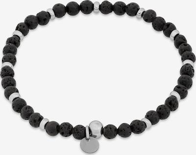 FAVS Armband in schwarz / silber, Produktansicht