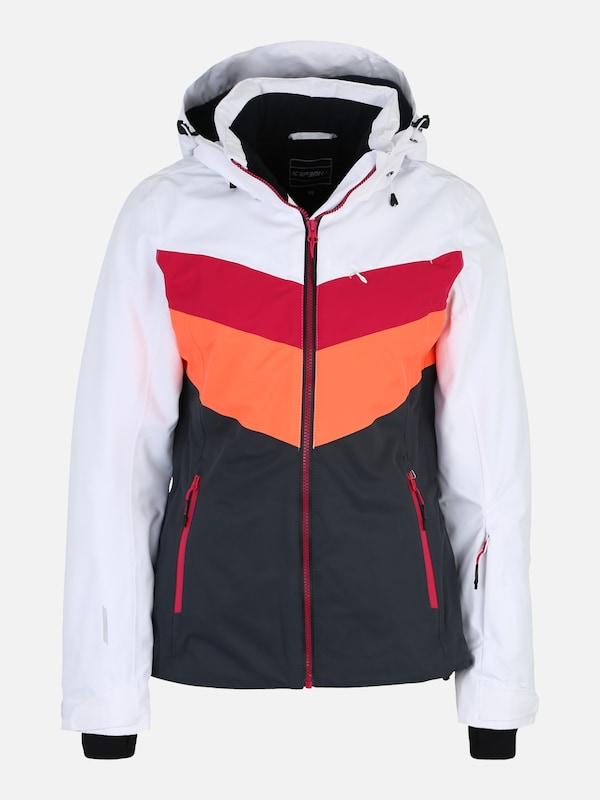 ICEPEAK Skijacke 'Kate' in schwarz weiß