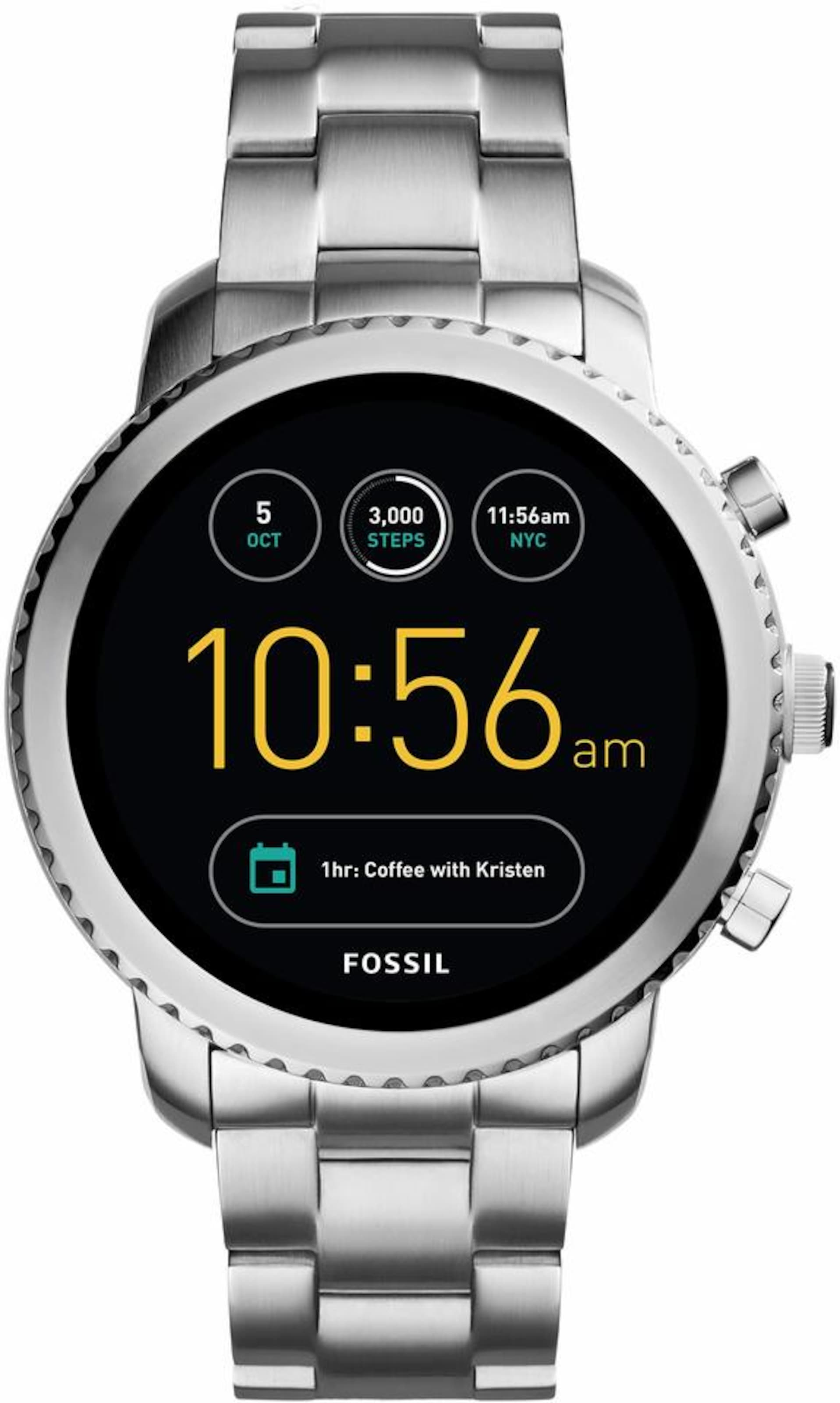 Fossil Q Q EXPLORIST, FTW4000 Smartwatch (Android Wear)