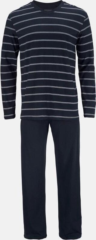 SCHIESSER Ringel Pyjama lang