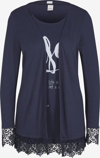 heine Shirt-Twinset in marine, Produktansicht