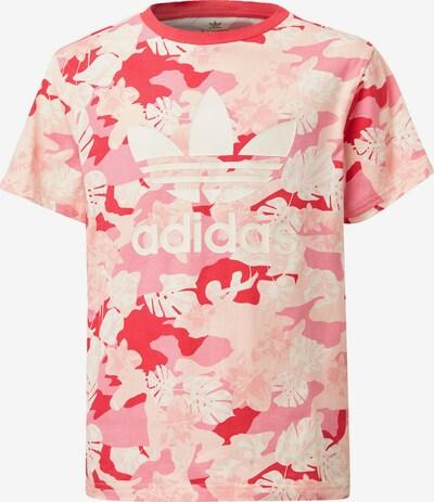 ADIDAS ORIGINALS T-Shirt in rosa / hellrot / weiß, Produktansicht